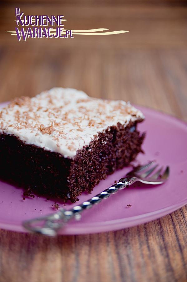 Ciasto czekoladowe z kremem twarogowym