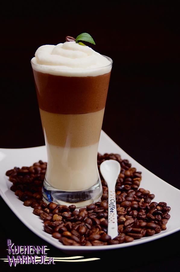 Deser kawowy w trzech kolorach