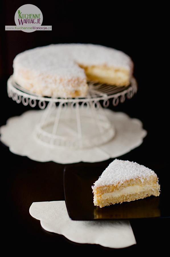 Tort waniliowy z kokosem