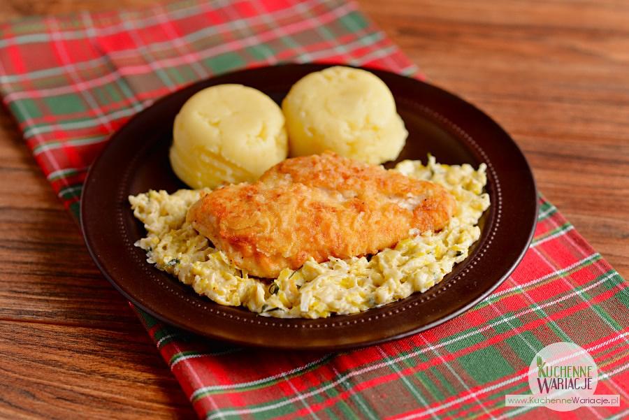 Kurczak w sosie porowym z ziemniakami