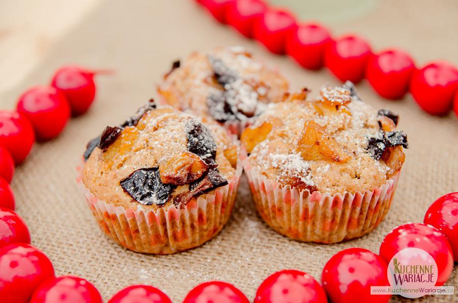 Muffinki małopolski smak - z jabłkami i śliwkami