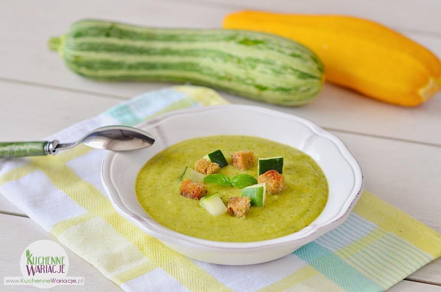 Zupa krem z cukini z grzankami