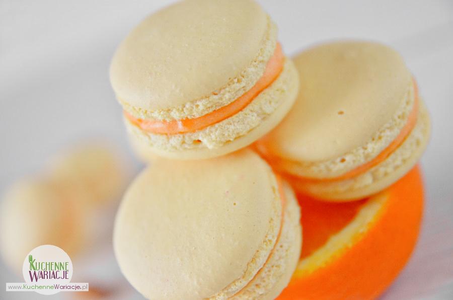 Makaroniki z kremem pomarańczowym