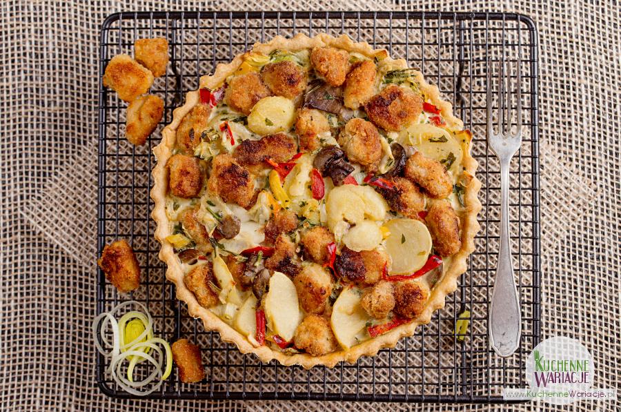 Tarta ze schabem i warzywami
