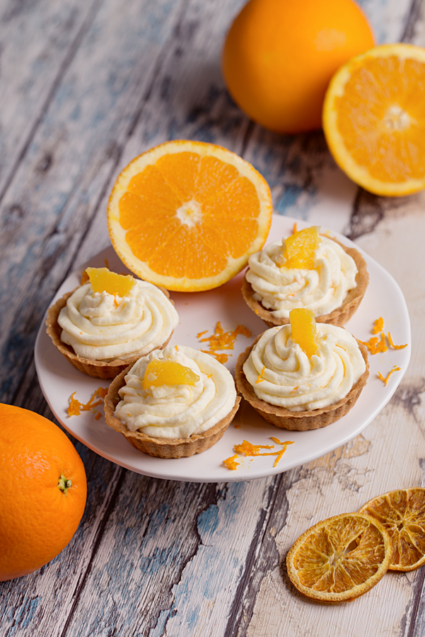 Tartaletki z nadzieniem pomarańczowym i kremem mascarpone