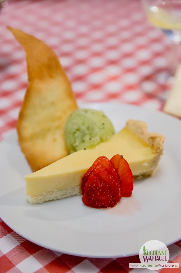 Cosa Nostra - tarta cytrynowa podana z sorbetem z kiwi