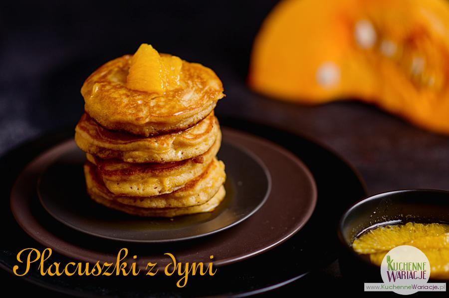 Placuszki z dyni z pomarańczowym syropem