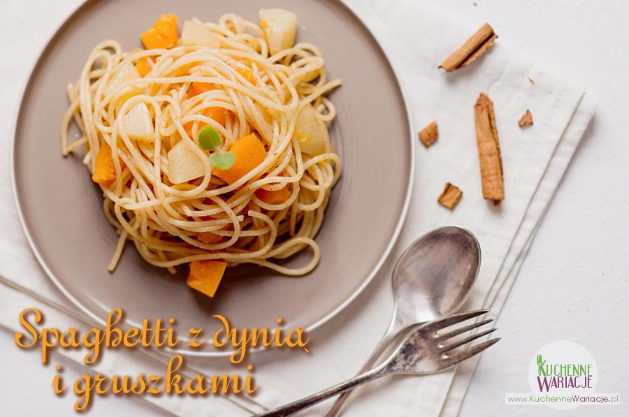Spaghetti z dynią i gruszkami