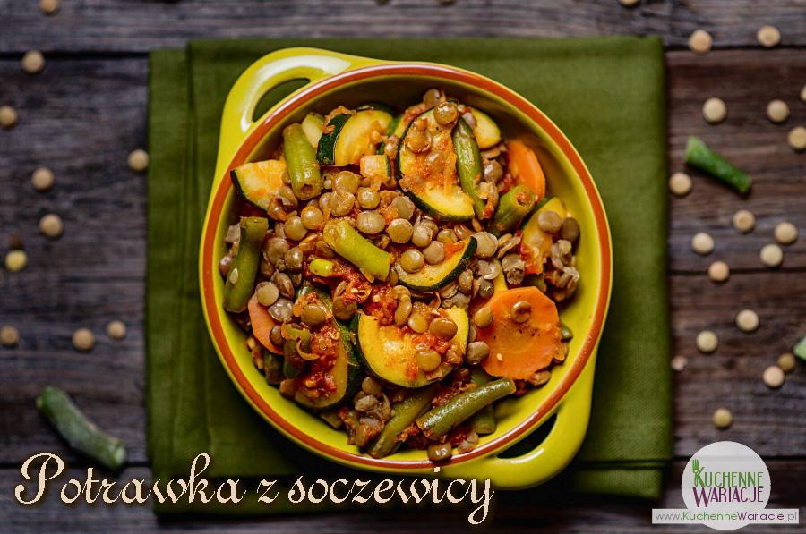 Bezglutenowa wegańska potrawka z soczewicy