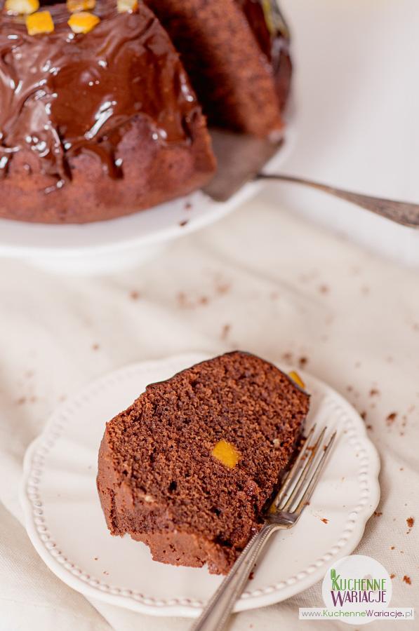 Wielkanocna babka czekoladowo-pomarańczowa
