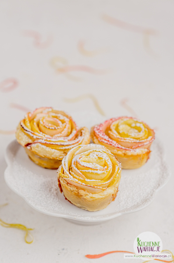 Róże z ciasta francuskiego
