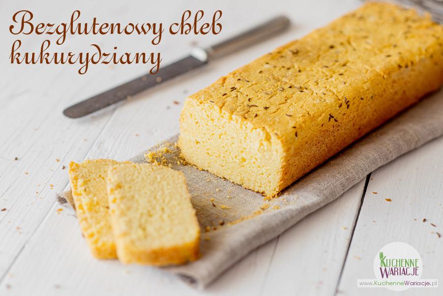 Bezglutenowy chleb z mąki kukurydzianej
