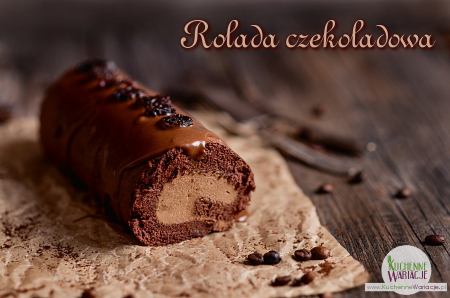 Rolada czekoladowa z musem kawowo-rumowym