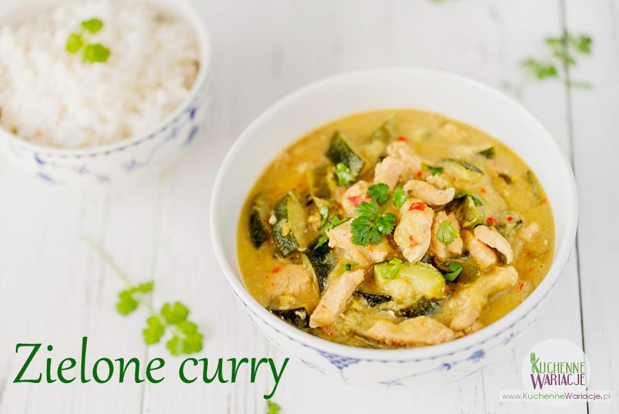 Tajskie zielone curry z kurczakiem i warzywami