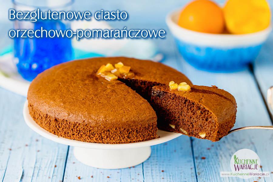 Bezglutenowe ciasto orzechowo pomarańczowe