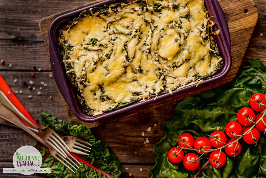 Lasagne z liśćmi botwinki