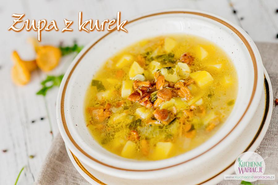 Zupa z kurek z porem i ziemniakami