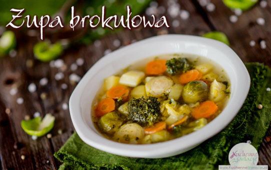 Zupa z brukselki z brokułem i ziemniakami
