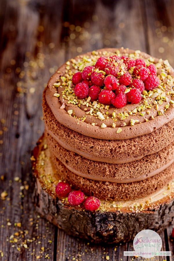 Czekoladowo-malinowy naked cake - Stanisław Romek (Kuchenne Wariacje)