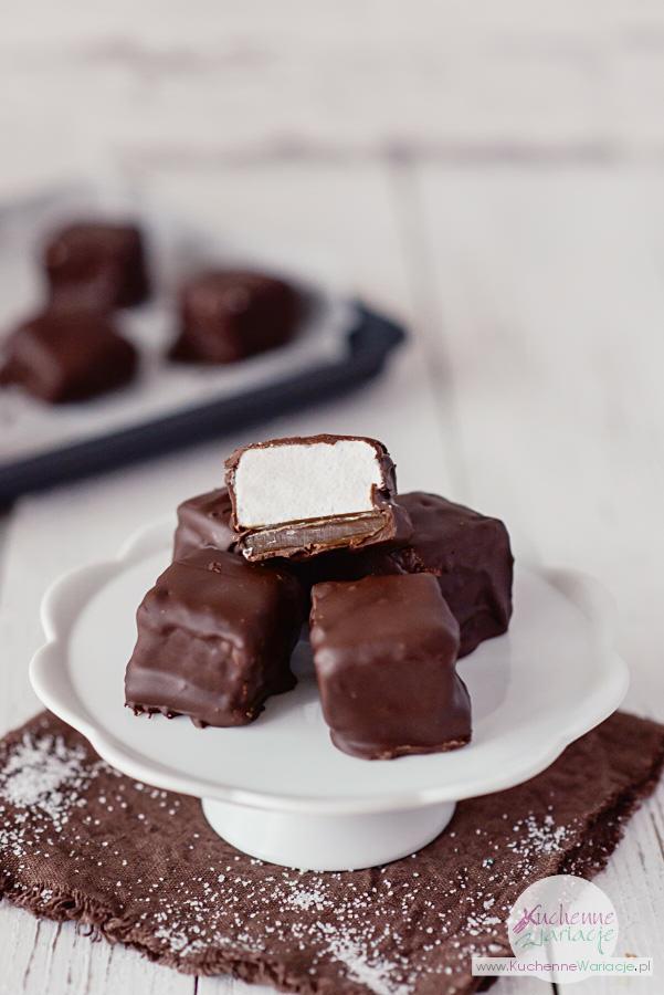 Pianki marshmallow z karmelem w czekoladzie - Stanisław Romek (Kuchenne Wariacje)