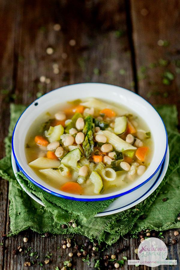 Wiosenna zupa ze szparagami - Kuchenne Wariacje