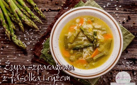 Zupa szparagowa z zieloną fasolką szparagową i ryżem