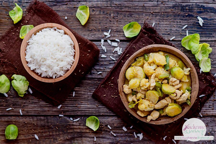 Curry z indykiem, brukselką i kalafiorem - Kuchenne Wariacje, Sezonowo Bezglutenowo