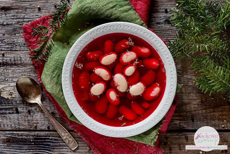 Wigilijny barszcz czerwony z fasolą - Kuchenne Wariacje, Sezonowo Bezglutenowo