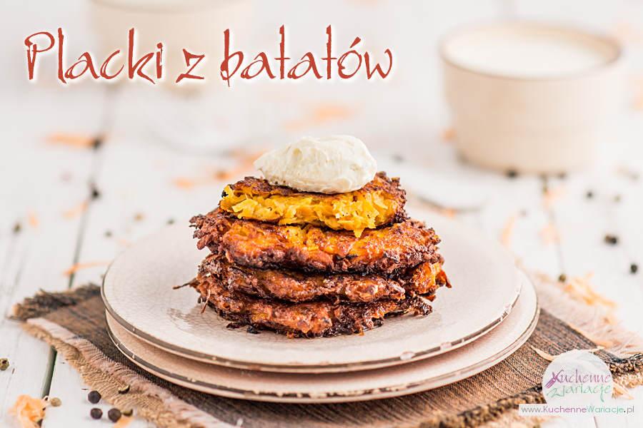 Placki z batatów - Kuchenne Wariacje, Sezonowo Bezglutenowo