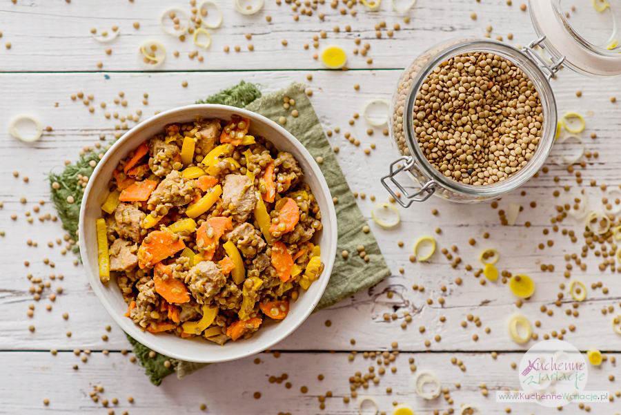 Gulasz z udźca z indyka z soczewicą i warzywami - Kuchenne Wariacje, Sezonowo Bezglutenowo