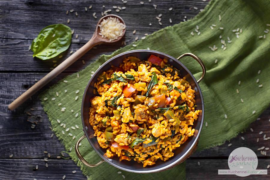 Paella z indykiem i warzywami - Kuchenne Wariacje, Sezonowo Bezglutenowo
