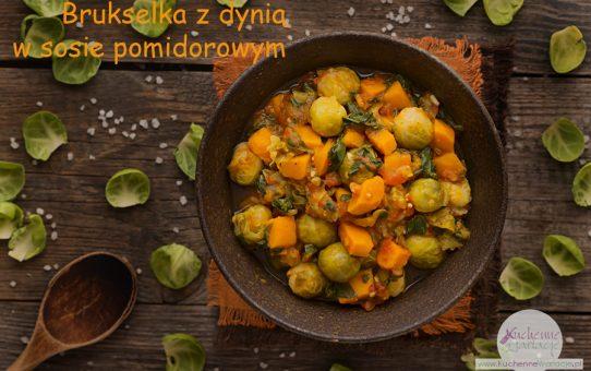 Brukselka z dynią i szpinakiem w sosie pomidorowym (post Dąbrowskiej)