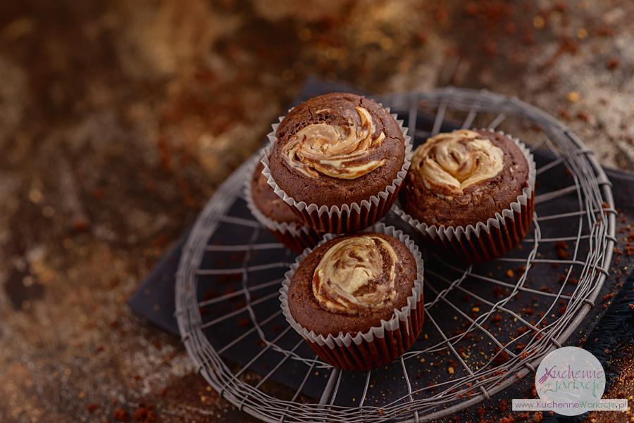 Zakręcone muffiny kakaowe z serem - Kuchenne Waricjae, Sezonowo Bezglutenowo