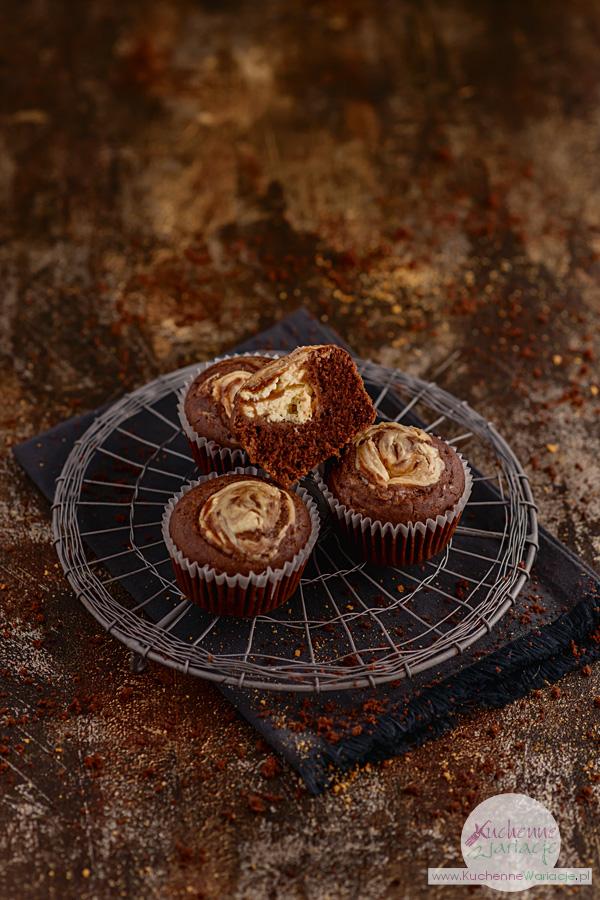 Zakręcone muffiny kakaowe z serem - Kuchenne Wariacje, Sezonowo Bezglutenowo