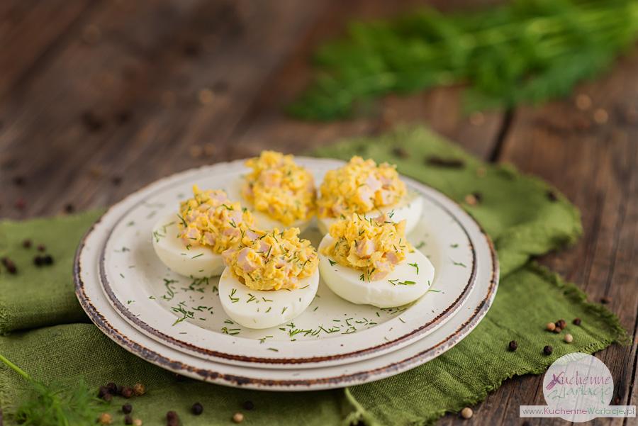 Jajka faszerowane szynką i żółtym serem - Kuchenne Wariacje, Sezonowo Bezglutenowo