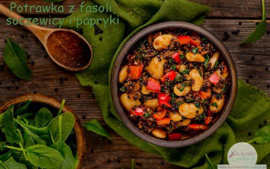 Potrawka z fasoli, soczewicy i papryki