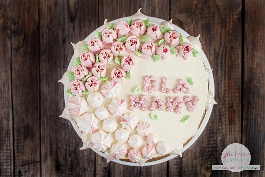 Tort bezglutenowy z kremem z białej czekolady i truskawkami - Kuchenne Wariacje, Sezonowo Bezglutenowo