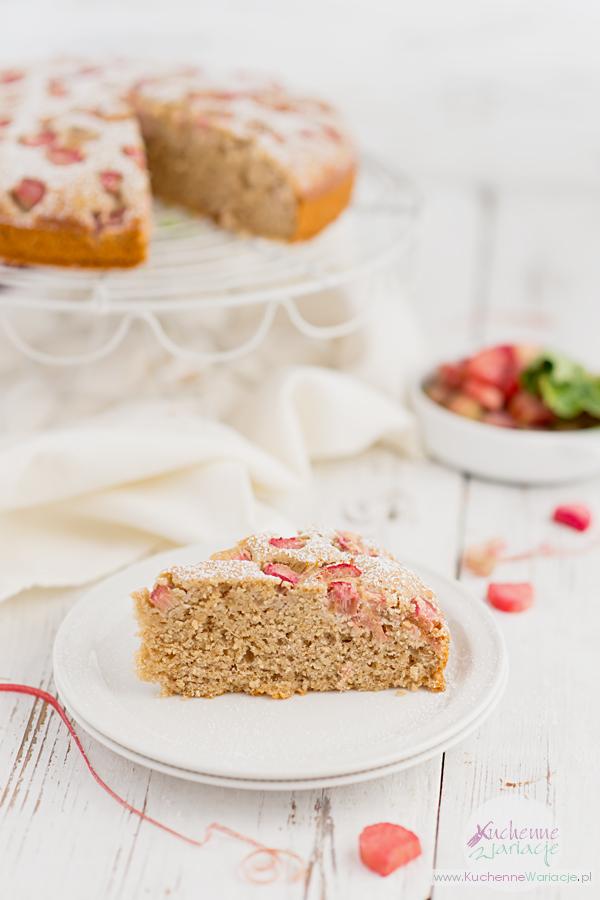 Bezglutenowe ciasto jogurtowe z rabarbarem - Kuchenne Wariacje, Sezonowo Bezglutenowo