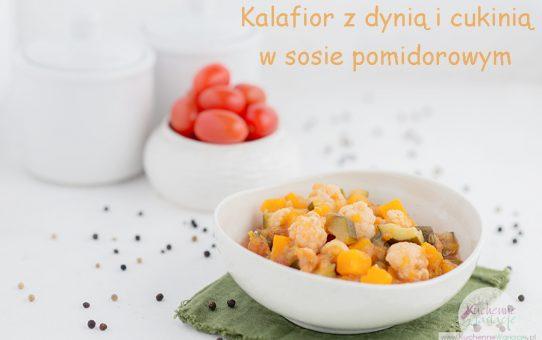 Kalafior z dynią i cukinią w sosie pomidorowym (post Dąbrowskiej)