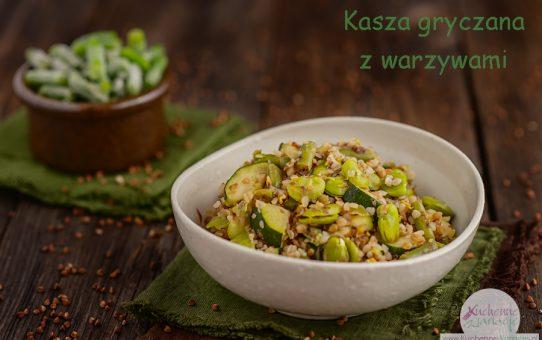 Kasza gryczana z zielonymi warzywami (wychodzenie z postu Dąbrowskiej)
